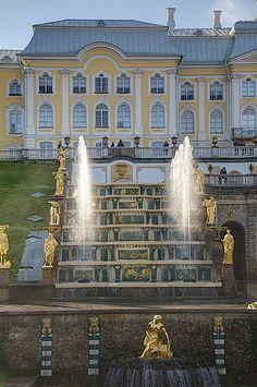 garden fountains, St Petersburg, Russia