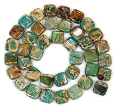 "'15.5"" 10 x10mm Natural African Turquoise Beads' is going up for auction at  7pm Sun, Mar 10 with a starting bid of $5."