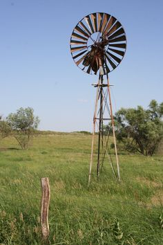 A windmill in southwest Clay County, Kansas. Photo by Neil Croxton