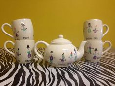 School auction idea: ceramic fingerprint tea set