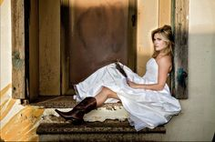Wedding Dresses & Cowboy Boots