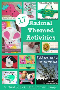 17+ Book Inspired Animal Themed Activities for Kids from The Educators' Spin On It
