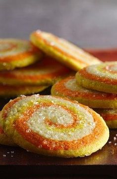 Candy Corn Roll-Up Cookies