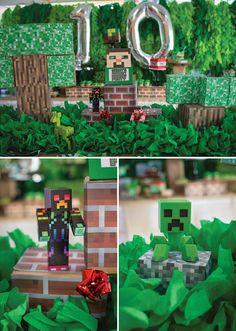 Block Party' Minecraft Birthday Madness #birthday #partyideas #Minecraftparty