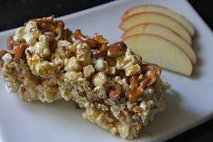 Chunks of temptation: salted caramel almond pretzel popcorn