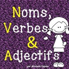 Voici une série d'activités qui permettront à vos élèves de faire la distinction entre un verbe, un nom propre, un nom commun et un adjectif qualificatif.
