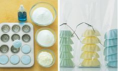 Frugal-Freebies.com: All it takes is a little mixing, some gradual spritzing, and a few minutes of molding. When you're finished you'll have dozens of effervescent treats in a variety of shapes and colors that will scent and soften your bath water as they bubble. Photo credit: marthastewart.com