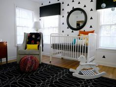 Graham Glider from west elm in Maxwell's Mix of Old  New Nursery Tour | Apartment Therapy