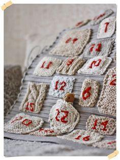 Christmas knitting: Knitted advent calendar