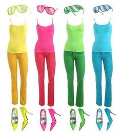 Neon clothes.
