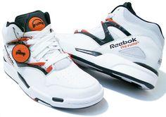 "Reebok ""The Pump"" high top shoes."