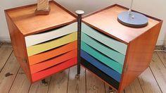 Photo: Roger Valentin Mandt. Colorful drawers designed by Finn Juhl.