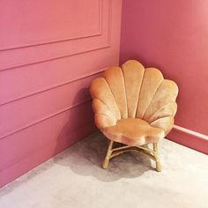 A plush pink chair i