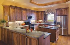 Kitchen Colors with Hickory Cabinets | Cornerstone Kitchens in Hickory - Canyon Creek