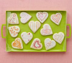 DIY Valentine's Day heart cookies for kids to decorate.