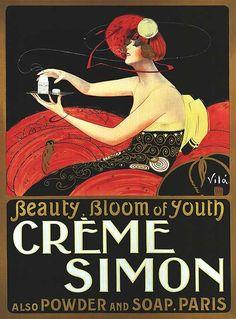 Advertisement for Crème Simon, 1920s