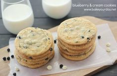 Blueberry and Cream Cookies from @Cassie Laemmli | Bake Your Day