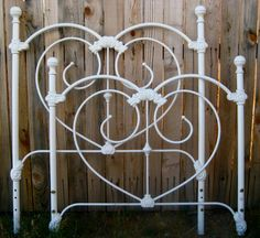 vintage single wrought iron bed