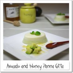 Avocado and Honey Panna Cotta