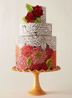 Inspired by a Parisian dress from the 1920s #weddings #weddingcake....DANG