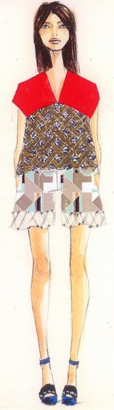 Suno Spring Summer 2014 #fashion #sketch