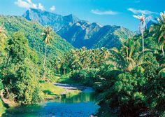 Raiatea island, South Pacific.