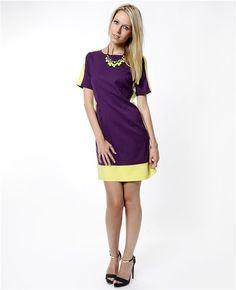 Nisa Kalo pinter mor elbise, asil duruşunuzu ön plana çıkarır.  Mini mor elbise Sarı renk detaylı Yarım kollu elbise Kapalı yaka Arkası gizli fermuarlı Nisa Kalo mor elbise ile canlı ve güçlü renklere dolabınızda yer verin.