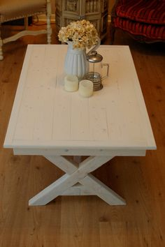 white washed coffee table