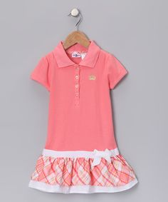 """Polo drop-waist dress from """"Gingham Girl: Spring Dresses"""", a collection on #zulily today!"""