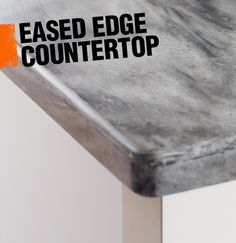 Unlike a square edge countertop where the edge forms a perfect right angle, an eased edge countertop has a slightly rounded corner.