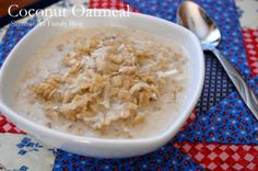 Coconut Oatmeal with Coconut Oil
