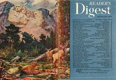 Reader's Digest front and back cover, February 1950  Illustration by:James Milton Sessions  James Milton Sessions (1882-1962) received his initial exposure to art from his mother, who was an accomplished artist. He trained at the Art Institute of Chicago from 1903-1906 and initially supported himself as a wheelsman aboard Great Lakes ships from 1906-1914, later serving in the Illinois Naval Reserve during World War I. He also worked as a commercial illustrator.