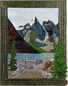 """""""Moraine Lake"""". Landscape quilt."""