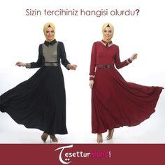 Sizin tercihiniz hangisi olurdu?  http://bit.ly/1qe8398 #hijab #tesettür #hijabfashion #tunic #tesetturisland