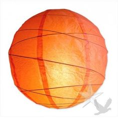 Cantelope Criss-CrossRound Paper Lantern