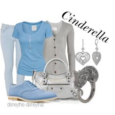 Cinderella, created by disneythis-disneythat on Polyvore