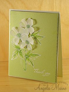 TLC422 & CAS213 Monochromatic Thank you by Arizona Maine - Cards and Paper Crafts at Splitcoaststampers
