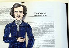 New Edgar Allan Poe paper doll in the shop