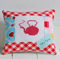 pillow, crafthelen philipp, project sew, ador pincushion, linens, stitch, pin cushion, embroideri, cross