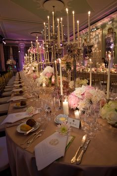 LOVE TALL CANDLES  Villa d'Este - Lake Como, Italy Wedding, Mindy Weiss Party Planning