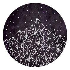 Geometric Pattern, Mountain Art Print, Triangles, Geometry,