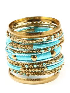 Turquoise Gold Stacks