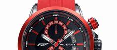 Viceroy Fernando Alonso Una nueva edición limitada del reloj del bicampeón mundial de Fórmula 1 en color rojo y brazalete de caucho.