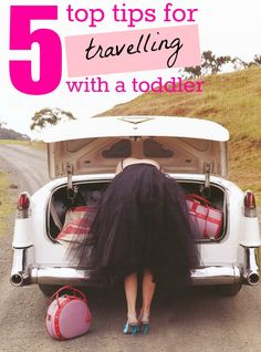 5 Tips for Traveling with a Toddler - and, I want that luggage...