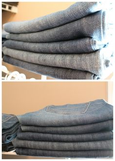 ) ) How to fold your jeans ( (