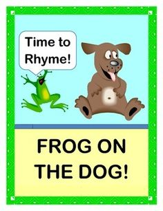 Match up RHYMING WORDS!  Have fun with 16 SIGHT WORDS!  Play a MULTI-SENSORY GROUP GAME!  The Frog on the Dog . . . the Bat on the Cat . . . the Duck on the Truck . . . and the 3-D action just keeps going with this funny GROUP ACTIVITY and CRAFT.  8 Animal Puppet Templates plus 8 Matching SIGHT WORD CARDS are all included.  Sing an easy RHYMING SONG-- no music skills needed!  Active WORD WORK!  (15 pages)  From Joyful Noises Express TpT!  $