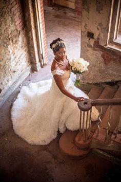 White and Gold Wedding. Sweetheart Corset Ballgown Dress. Vintage Chic Destination Wedding in Port Royal, Jamaica♥Wedding Gown: Allure♥Munaluchi Bridal Magazine ♥Photography:http://dwaynewatkins.com/