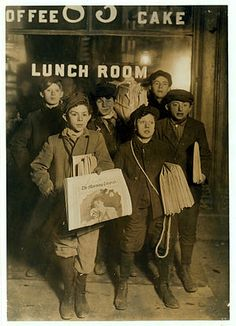 """Picture of New York Newsboys right after the strike of 1899--the inspiration for the movie and Broadway show """"Newsies."""""""