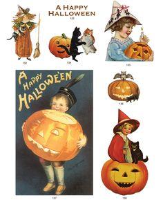 old-time illustrations #free #printable #halloween #holidays #diy #crafts