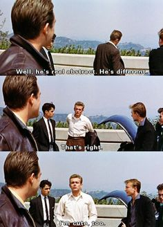 James Dean, Rebel without a Cause, 'I'm cute too'